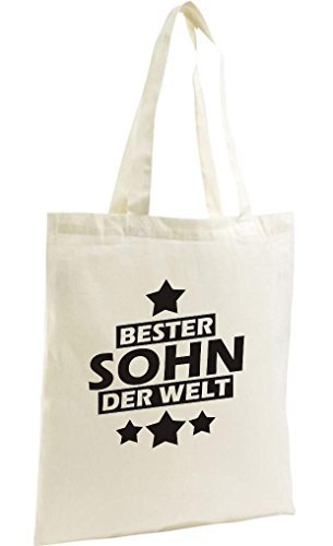 shirtstown Shopping-Bag organico Zen, SHOPPER MIGLIORI FIGLIO DEL MONDO Naturale