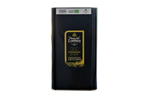 3 litri - Olio extravergine d'oliva LECCINO biologico NOVELLO 2018-100% italiano
