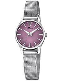 Lotus Watches Reloj Análogo clásico para Mujer de Cuarzo con Correa en  Acero Inoxidable ... 928facb80084