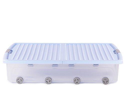Ondis24 Unterbettbox Rollerbox Aufbewahrungsbox 55 W (1 Stück, Blau)