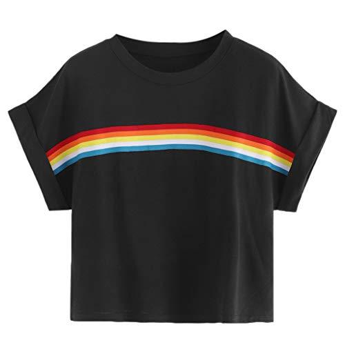 2892da0526 Bluestercool 2019 T-shirt pour Femmes, Été Décontractée Manches Courtes Col  Rond Chic T