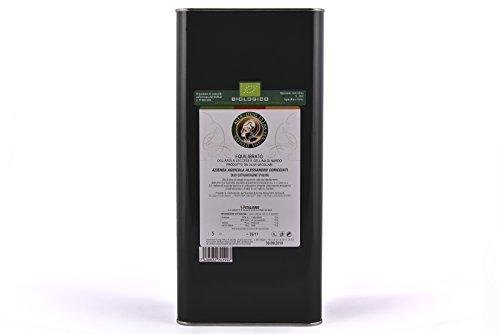 Salentoeat - alèa olio extravergine di oliva biologico, equilibrato 5 litri - 100% made in italy