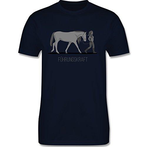 Reitsport - Führungskraft - Herren Premium T-Shirt Navy Blau