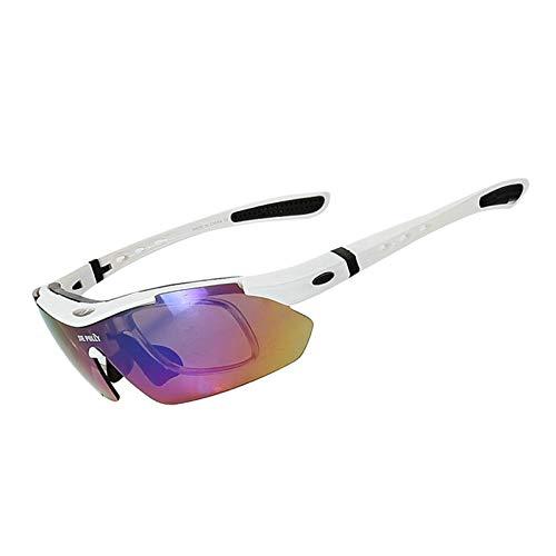 Coniea Radsportbrille Sehstärke PC Radbrille Jugendliche Sport Sonnenbrillen Weiß