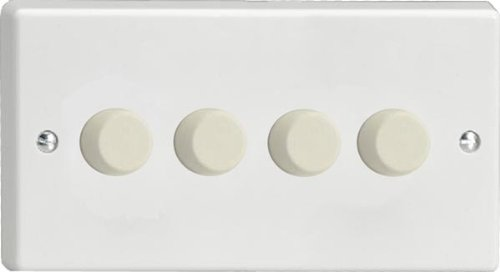 Varilight Classic White 4 Gang LED Trailing Edge Dimmer Switch 1 or 2 Way