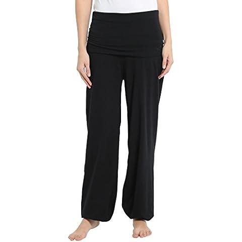 Ultrasport Balance Pantaloni Yoga da Donna Lunghi, Rosso,