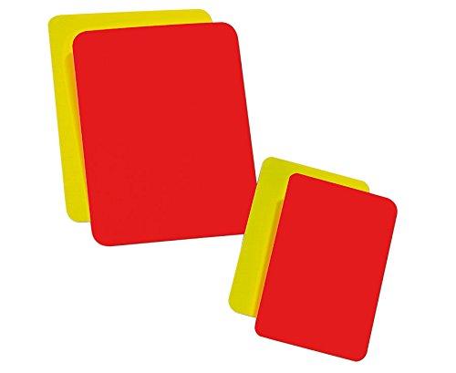 Betzold Schiedsrichter Karten, Schiedsrichterset, 2 gelbe 2 rote Karten, PVC Hartfolie - Gelbe Karte rote Karte Fußball Sport Sportunterricht