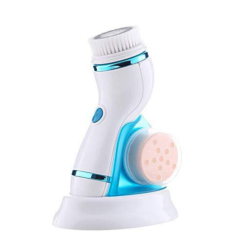 Nrpfell Wiederaufladbare Gesichts Massage Reinigungsmittel Elektrische Gesichts Bürste Mitesser Entfernung Poren Reiniger Multifunktions Reinigungs Instrument Blau