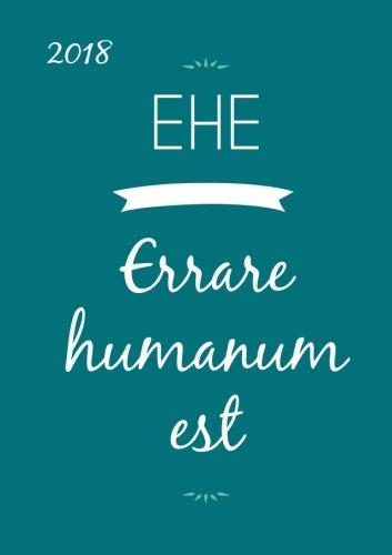 Kalender 2018 - DIN A5 EHE - Errare humanum est: A5-1 Woche pro Doppelseite