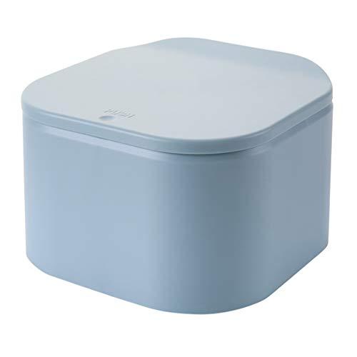 Leezo Household Press-Typ Abfallbehälter für Desktop Spring-Typ-Abdeckung mit Deckel Kleine Mülleimer