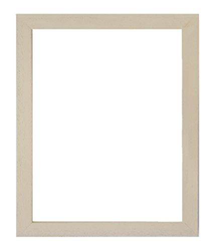 Tailored Frames Soho aus Holz, mit Bilderrahmen, Matte Oberfläche handgefertigt im Vereinigten Königreich, Lederfarben, 15 x 10 cm