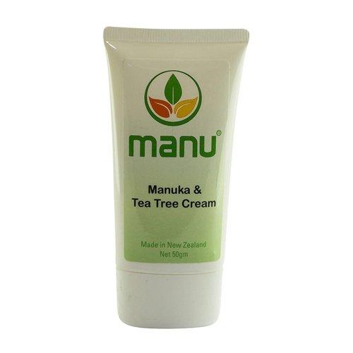 Manuka und Teebaum Creme - 50 Gramm | Premium Mischung aus den wirksamsten ätherischen Ölen |...