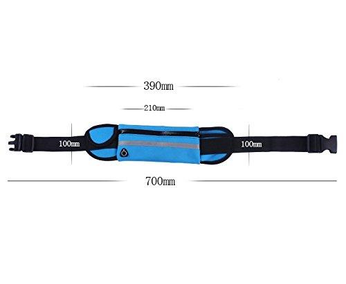 Marosoniy® Sport Hüfttasche, Elastische Gürteltasche Bauchtasche Anti-Diebstahl Tasche Handytasche Reise Wandern für Damen und Herren auf Sport und Outdoor Grün