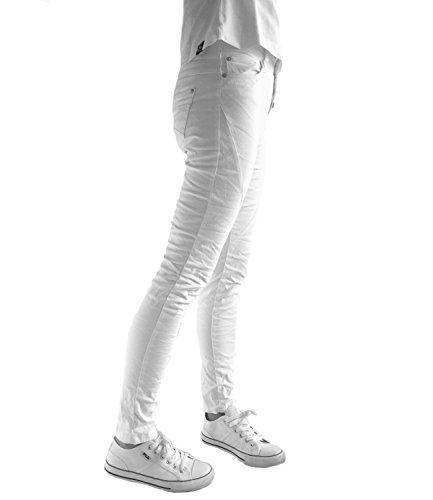 Eight2Nine Damen Jeans Damenhose mit Quernaht 5 Pocket weiß by URS XS