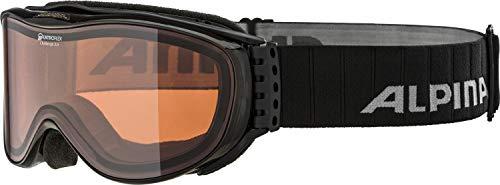 Alpina Skibrille Challenge 2.0 black transparent, One Size