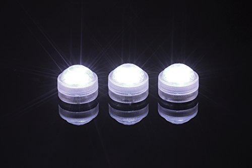 t wasserdicht Hochzeit LED Dekoration LED Tee Mini Licht mit Batterie Party Tisch Weihnachten Vase Huka Shisha Papier Laterne light 12pcs Light(Weiße) (Halloween Herzstück)