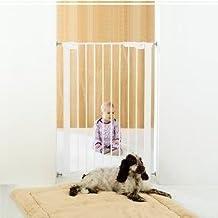 BabyDan - Cancelletto di sicurezza per bambini, extra alto, con indicatore di pressione, colore: Bianco