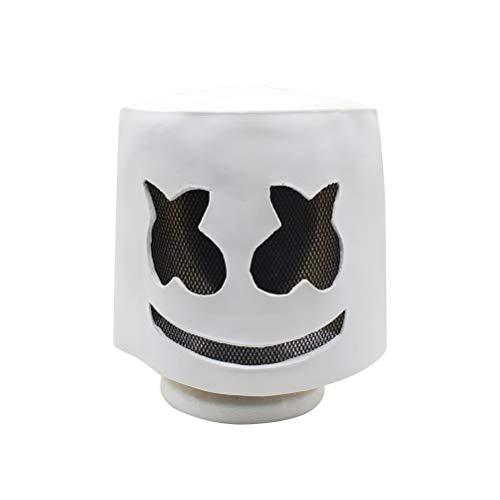 BESTOYARD DJ Maske Scary Halloween Maske Horror Zombie Maske Kostüm Party Maske (weiß)