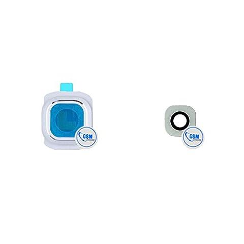 Kamera Linse Glas Camera Scheibe Lens Glass Abdeckung Gehäuse für Samsung Galaxy S6 SM- G920F weiß # itreu