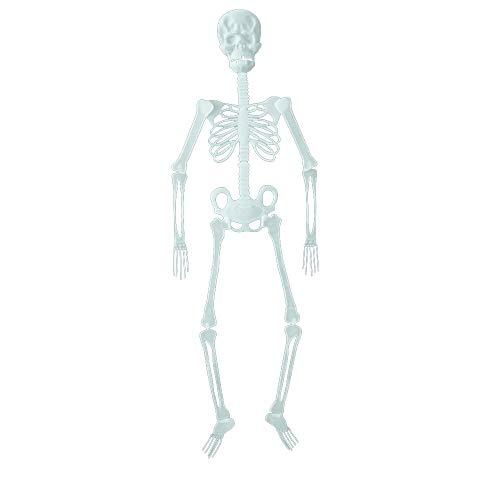 Kostüm Tänzer Ballsaal Halloween - Tragbare Halloween Spielzeug Scary Luminous Schädel Skeleton Körper Hängende Dekoration für Haus Bar Home Garden Party Indoor Urlaub 35,5 zoll