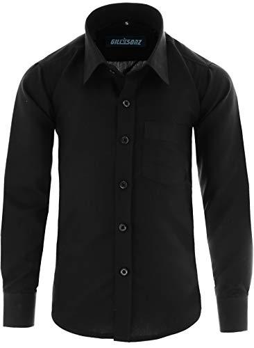 GILLSONZ - Camisa - Clásico - niño Negro 11/12 años