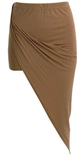 Generic - Jupe - Asymétrique - Femme Multicolore Bigarré Taille Unique Moka