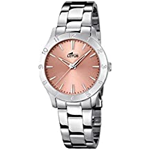df8948140e1d Lotus Reloj analógico para Mujer de Cuarzo con Correa en Acero Inoxidable  18138 2