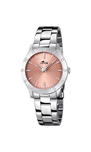 Para mujer de loto de oro rosa y cristales reloj...