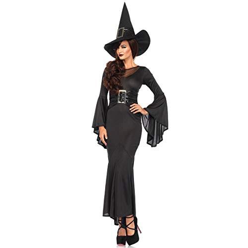 LBFKJ Giochi di Ruolo, Costume di Halloween, Gonna Lunga Sexy da Donna Costume da Diavolo in Costume da Strega, Divisa da Gioco M