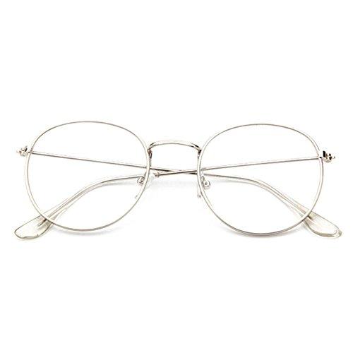 Juleya Clear Lens Brillen Lesung Gläser Dekor Fashion Geek/Nerd Retro Eyewear für Männer Frauen