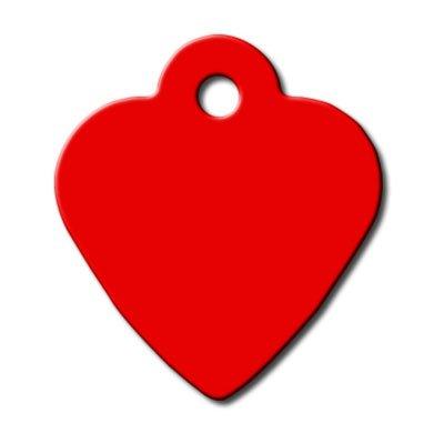 Piccolo cuore inciso in alluminio Pet ID tag-rosso
