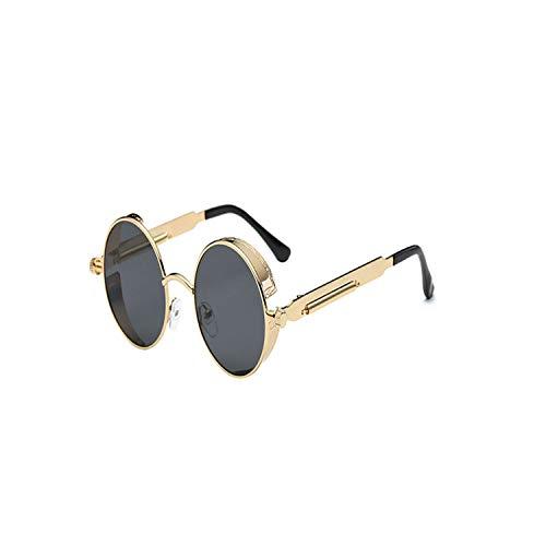 FGRYGF-eyewear2 Sport-Sonnenbrillen, Vintage Sonnenbrillen, Gothic Round Steampunk Sunglasses Men Brand Designer Vintage Sunglasses Women Male Retro Sun Glasses For Male UV400 C03