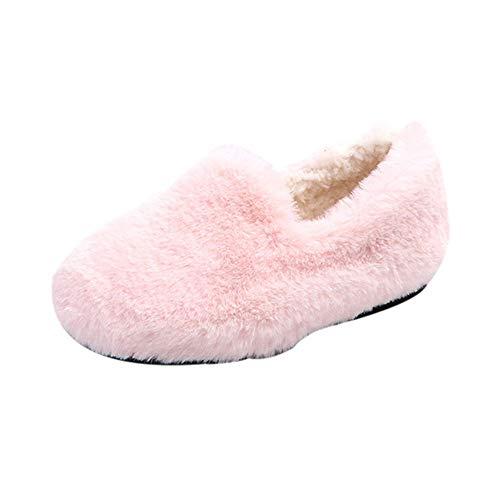 cinnamou Schuhe Mädchen-Feste Winter-warme flaumige Mengen-Einzelne zufällige Schuhe Warme weiche Winterschuhe 21-30