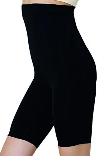 UnsichtBra Bauch Weg Damen Figurformende Miederhose Bodyformer mit Bein stark Figurformende Unterwäsche (sw_0600)(S (36-42),Schwarz)