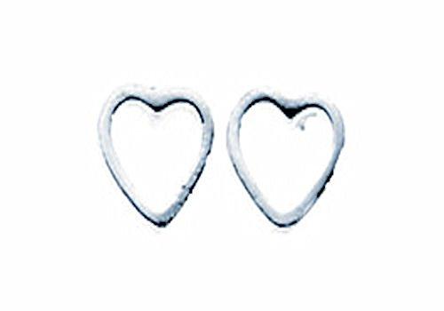 TF Damen Mädchen Herz Ohrstecker Ohrringe Paar/Set Sterling Silber minimalistischer Schmuck