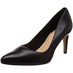 Clarks Laina RAE, Zapatos de Tacón para Mujer, Negro (Black Leather), 41.5 EU