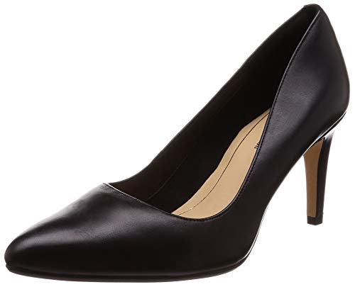 Clarks Laina Rae, Scarpe con Tacco Donna, Nero (Black Leather-), 37.5 EU