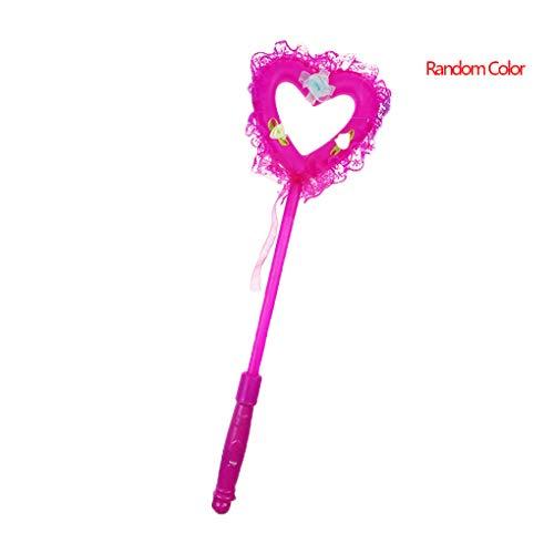 Mit Glow Kostüm Sticks - Deinbe Zufällige Farbe Flashing Lace Heart Shaped Glühen-Stock-Fee Lichtstab Sticks Kind-Mädchen-Spielzeug Glow Wand Luminous Spielzeug