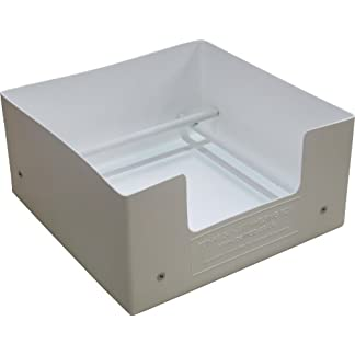 """Petnap Plastic Re-useable dog puppy whelping box (24"""" x 24"""" x 12"""" White) 10"""