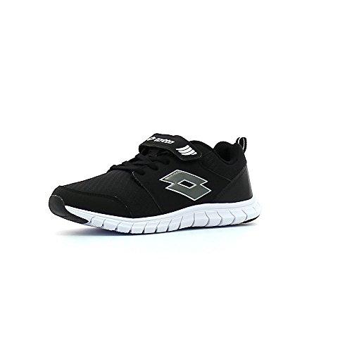 Lotto Spacerun Ii Cl Sl, Chaussures de Running Mixte Bébé Noir / gris (noir / gris titan)