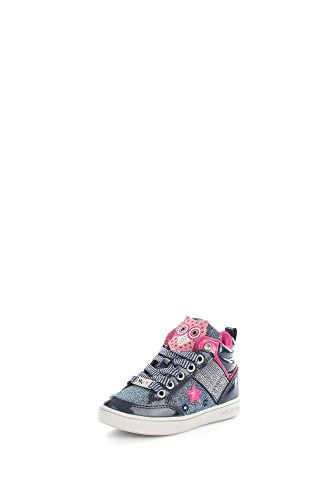 Lelly Kelly LK6404 Sneaker für Mädchen, mit Eulenmotiv, Blau Blu vernice