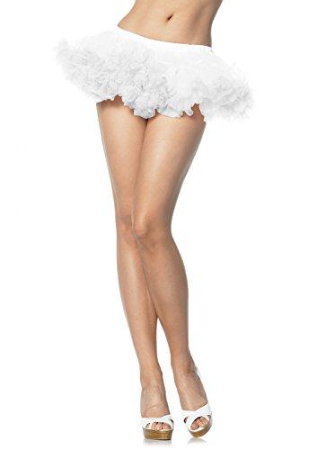 Leg Avenue 8993 - Puffy Chiffon Mini Petticoat, Einheitsgröße, weiß Penthouse High Heel