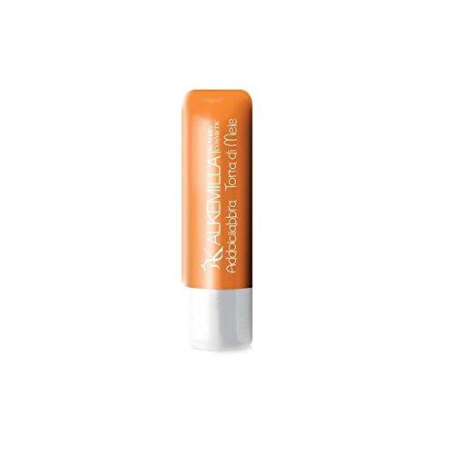 ALKEMILLA - Addolcilabbra Tarte aux Pommes- Beurre hydratant pour les lèvres - Certifié Bio - Avec Huile de Noisettes,de Tournesol et de Ricin - Apaisant et Hydratant - Produit en Italie - 5 ml