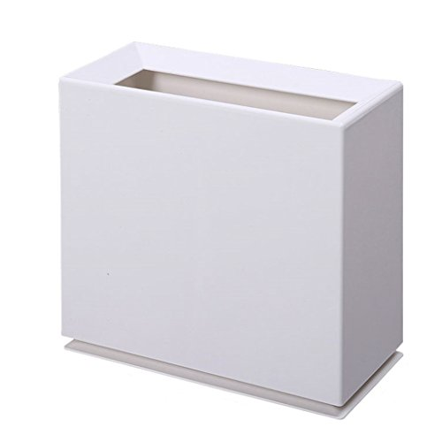 HZH Abgedeckte Kunststoff-Mülleimer für Haushalt WC Wohnzimmer Mülleimer kann klassifiziert Storage Mülleimer Sein (Color : White) (Küche Schritt Papierkorb Kann 13 Gallone)