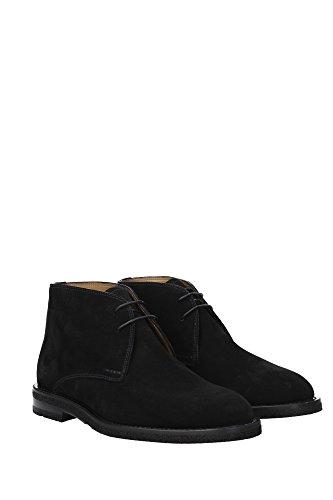 RHIMAR106198765 Bally Chaussure montante Homme Chamois Noir Noir