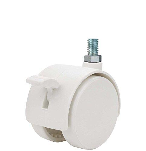 132 lb Capacity Range 5//16 Diameter x 1-1//2 Length Grip Neck Stem 5//16 Diameter x 1-1//2 Length Grip Neck Stem Twin Wheel Caster Solutions TWUN-75N-G02-BK 3 Diameter Nylon Wheel Unhooded Non-Brake Caster