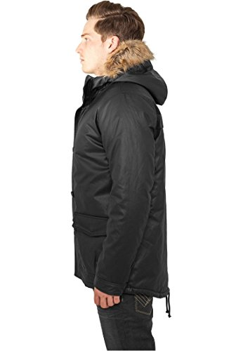 TB896 Coated Nylon Parka Winter Jacke Herren Kapuze