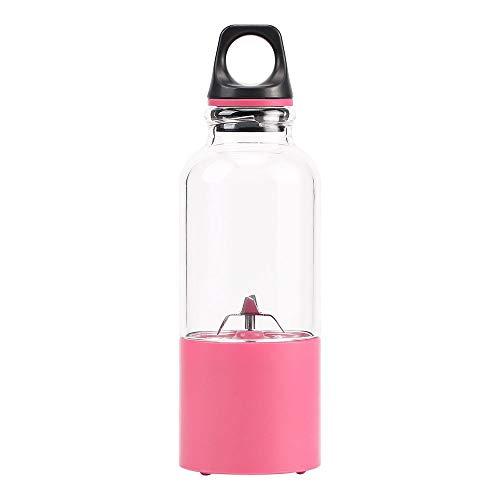 Batidora de mano batidora licuadora licuadora USB licuadora de frutas de 5 onzas con 2600 mAh batería recargable, taza desmontable, licuadora perfecta para uso personal, rosa, rosa