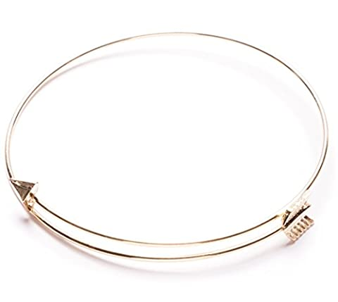 Happiness Boutique Damen Pfeil Armband in Gold | Wickelarmband Boho