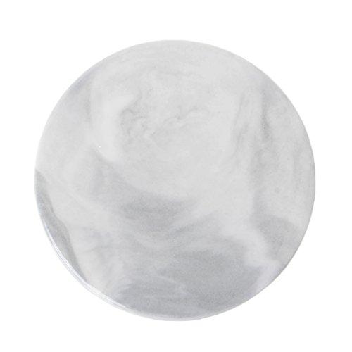 LANDUM Untersetzer mit Marmor-Maserung, Keramik, Rutschfest, Keramik, weiß, Rund - Marmor-runde Untersetzer